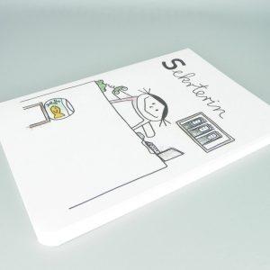 Sekretärin Notizbuch